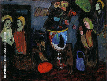 Dark still Life Secret 1911 By Gabriele Munter - Oil Paintings & Art Reproductions - Reproduction Gallery