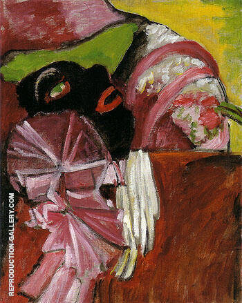 Black Mask With Pink 1912 Painting By Gabriele Munter