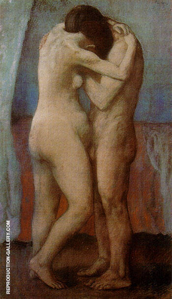 The Embrace 1903 By Pablo Picasso - Oil Paintings & Art Reproductions - Reproduction Gallery