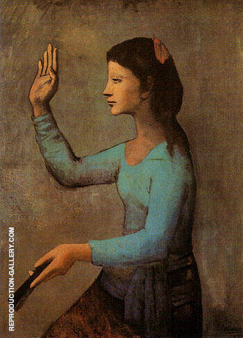 The Woman with a Fan 1905 Painting By Pablo Picasso - Reproduction Gallery