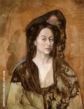 Portrait of Benedetta Canals 1905 By Pablo Picasso - Oil Paintings & Art Reproductions - Reproduction Gallery