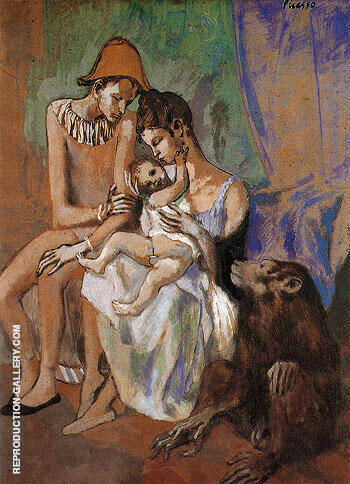 Family of Acrobats 1905 By Pablo Picasso - Oil Paintings & Art Reproductions - Reproduction Gallery