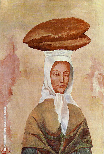 Woman with Loaves 1906 By Pablo Picasso - Oil Paintings & Art Reproductions - Reproduction Gallery