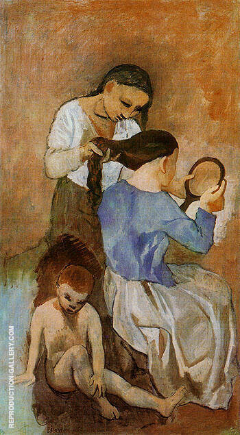 La Coiffure 1906 By Pablo Picasso - Oil Paintings & Art Reproductions - Reproduction Gallery