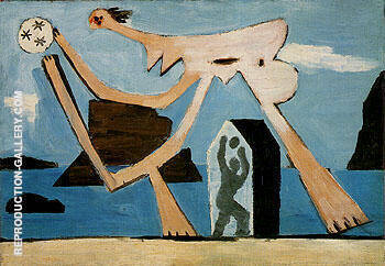 Playing Ball on the Beach 1928 By Pablo Picasso