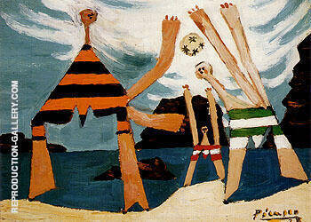Bathers with a Ball 1928 By Pablo Picasso Replica Paintings on Canvas - Reproduction Gallery