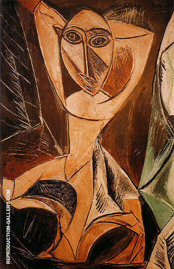 Nude with Raised Arms By Pablo Picasso - Oil Paintings & Art Reproductions - Reproduction Gallery