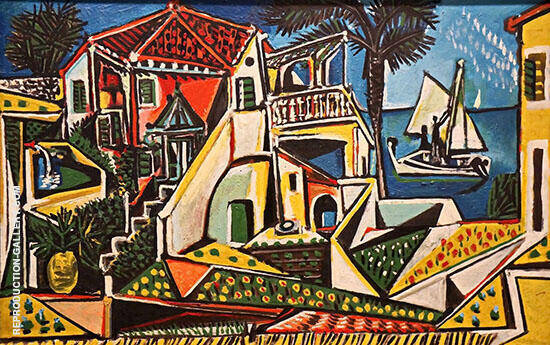 Mediterranean Landscape Painting By Pablo Picasso - Reproduction Gallery