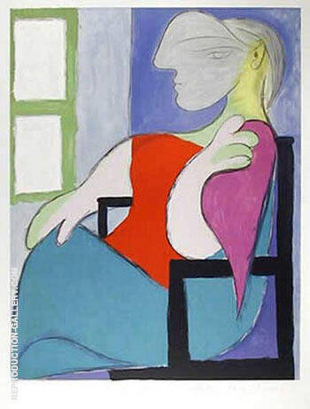 Femme Assise Pres d`une Fenetre 1932 By Pablo Picasso Replica Paintings on Canvas - Reproduction Gallery