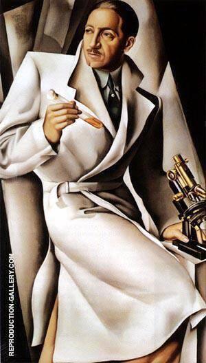 Portrait of Dr Boucard By Tamara de Lempicka - Oil Paintings & Art Reproductions - Reproduction Gallery