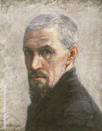Self Portrait 1892 By Gustave Caillebotte - Oil Paintings & Art Reproductions - Reproduction Gallery