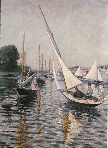Regatta at Argenteuil 1893 By Gustave Caillebotte