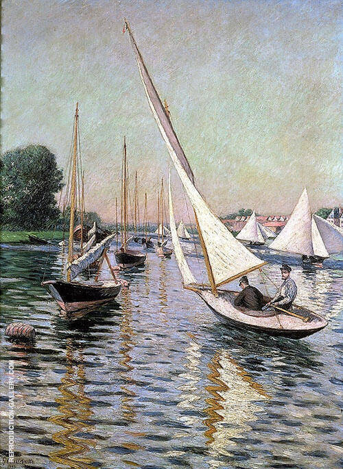 Regatta at Argenteuil 1893 By Gustave Caillebotte - Oil Paintings & Art Reproductions - Reproduction Gallery