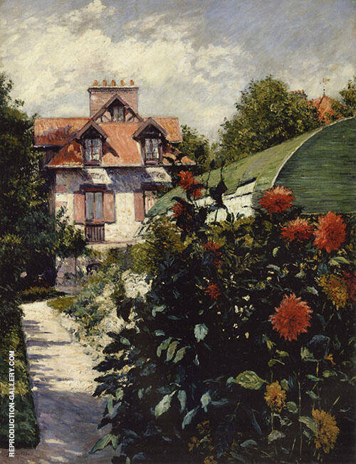 Dahlias the Garden at Petit Gennevilliers 1893 Painting By ...