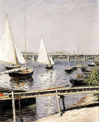 Sailing Boats at Argenteuil c1885 By Gustave Caillebotte - Oil Paintings & Art Reproductions - Reproduction Gallery
