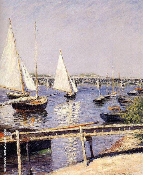 Sailing Boats at Argenteuil c1885 By Gustave Caillebotte