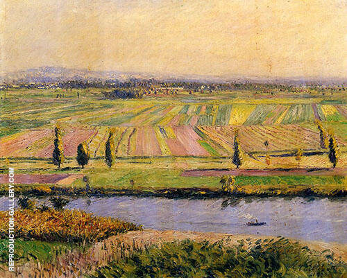 The Gennevilliers Plain seen from Argenteuil 1888 By Gustave Caillebotte - Oil Paintings & Art Reproductions - Reproduction Gallery