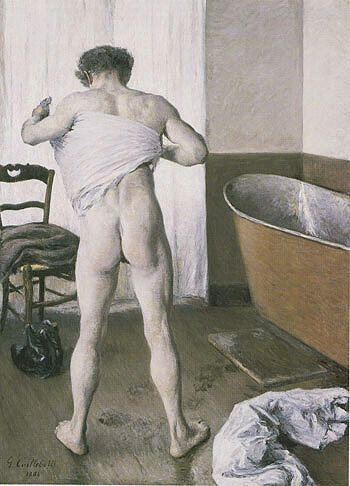 Man at his Bath 1884 By Gustave Caillebotte - Oil Paintings & Art Reproductions - Reproduction Gallery