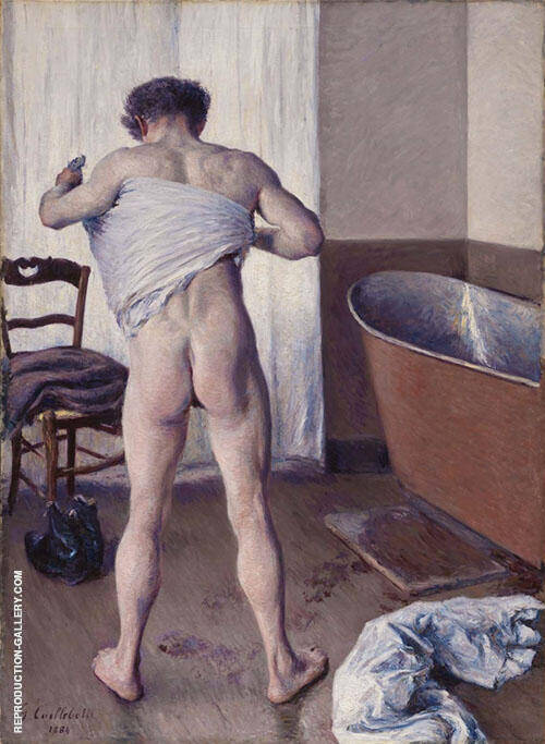 Man at his Bath 1884 Painting By Gustave Caillebotte