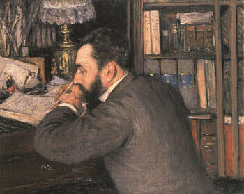 Portrait of Henri Cordier 1883 By Gustave Caillebotte - Oil Paintings & Art Reproductions - Reproduction Gallery