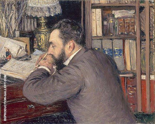 Portrait of Henri Cordier 1883 By Gustave Caillebotte Replica Paintings on Canvas - Reproduction Gallery