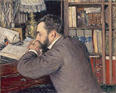 Portrait of Henri Cordier 1883 By Gustave Caillebotte