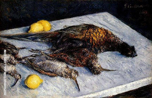 Pheasants and Woodcocks on a Marble Table 1883 By Gustave Caillebotte