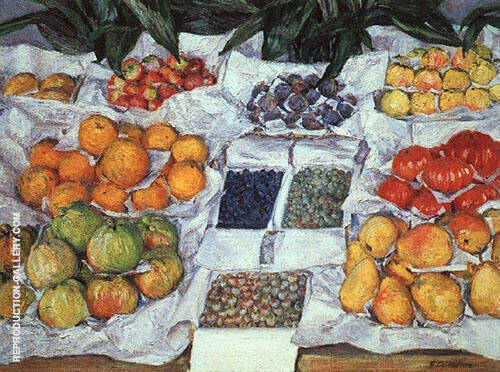 Still Life c1880 By Gustave Caillebotte Replica Paintings on Canvas - Reproduction Gallery