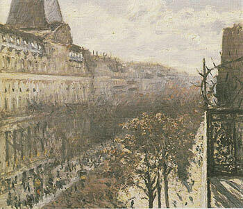 Boulevard des Italiens c1880 By Gustave Caillebotte