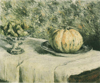 Melon and Bowl of Figs c1880 By Gustave Caillebotte