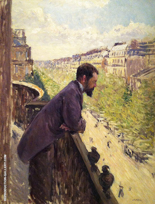 The Man on the Balcony c1880 Painting By Gustave Caillebotte
