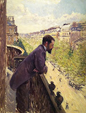 The Man on the Balcony c1880 By Gustave Caillebotte