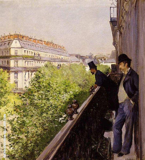 Reproduction of A Balcony 1800 by Gustave Caillebotte | Oil Painting Replica On CanvasReproduction Gallery