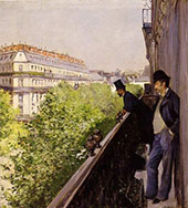 A Balcony 1800 By Gustave Caillebotte