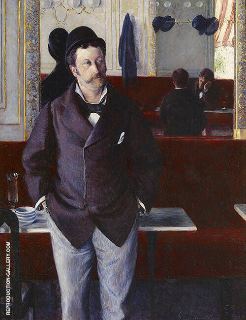 In a Cafe 1880 By Gustave Caillebotte