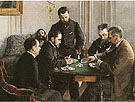 The Besique Game 1800 By Gustave Caillebotte