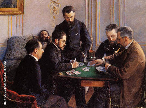 The Bezique Game 1800 By Gustave Caillebotte