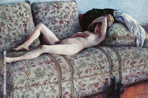 Nu au Divan c1880 By Gustave Caillebotte