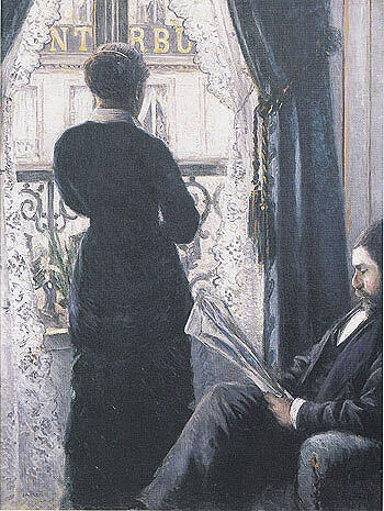 Interior 1800 By Gustave Caillebotte - Oil Paintings & Art Reproductions - Reproduction Gallery