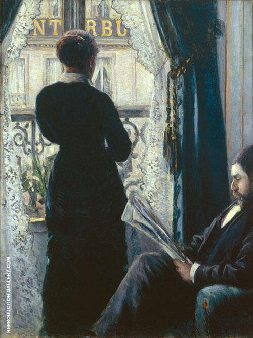 Interior 1800 By Gustave Caillebotte