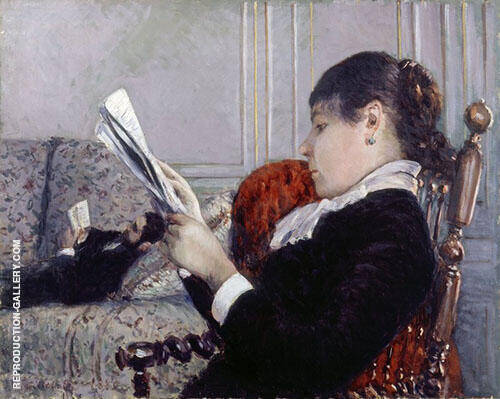 Interior A Woman Reading 1880 By Gustave Caillebotte Replica Paintings on Canvas - Reproduction Gallery