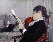 Interior A Woman Reading 1880 By Gustave Caillebotte