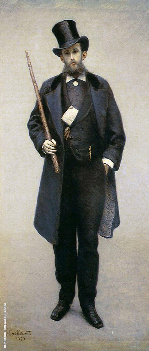 Portrait of Paul Hugot 1878 Painting By Gustave Caillebotte