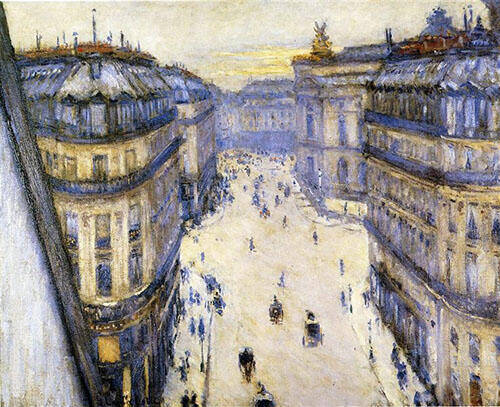 Rue Halvy Seen from Sixth Floor 1878 By Gustave Caillebotte Replica Paintings on Canvas - Reproduction Gallery