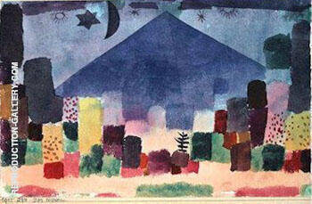 Reproduction of Der Niesen 1915 by Paul Klee | Oil Painting Replica On CanvasReproduction Gallery