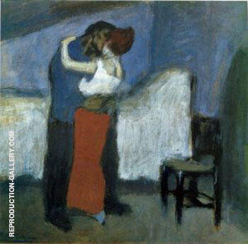 L etreinte Dans la Mansarde 1900 By Pablo Picasso - Oil Paintings & Art Reproductions - Reproduction Gallery