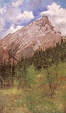 Banff Cascade Mountain 1890 By Frederic Remington