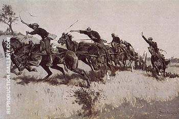 Capt Grimes Battery Going Up El Poso Hill 1894 By Frederic Remington