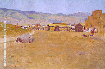 A Mining Town Wyoming 1899 By Frederic Remington