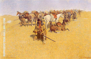 An Old Time Plains Fight 1904 Painting By Frederic Remington
